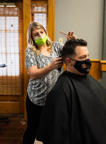 Stylist Cutting Hair for Men
