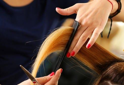 Stylist Cutting Hair for Women
